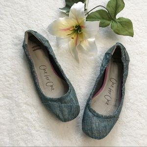 Toms One for One Ballet Flats Burlap Shoes
